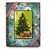 Шоколадная новогодняя открытка 100гр. Съедобный шоколадный рисунок
