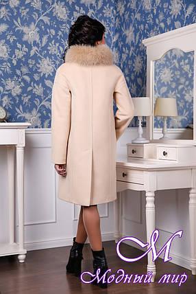 Кашемировое зимнее пальто большие размеры (р. 44-56) арт. 1051 Тон 47, фото 2