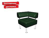 Кресло - угол из кожзама для офиса Тонус зеленый, фото 1
