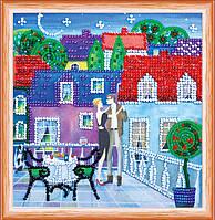 Набор для вышивки бисером на натуральном художественном холсте Столик для двоих