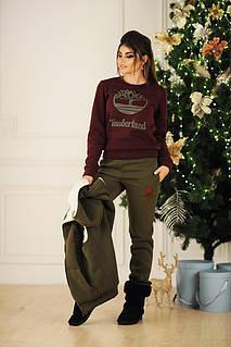 Теплый женский спортивный костюм-тройка  жилет, свитер, штаны в трех цветах dae1f01f844