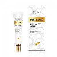 Крем для век от морщин отбеливающий Deoproce Premium Retinol Real White
