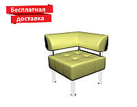 Кресло - угол из кожзама для офиса Тонус светло-зеленый, фото 1