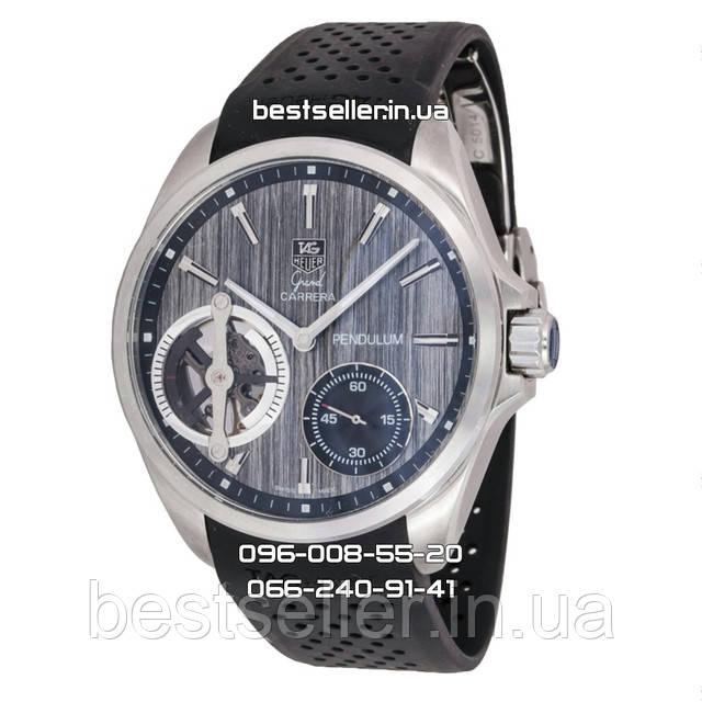 Часы TAG Heuer Grand Carrera Pendulum Tourbillon Silver/Grey. Класс: AAA.