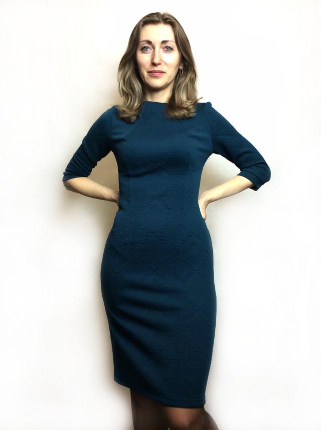 Платье футляр из жаккардового трикотажа П107