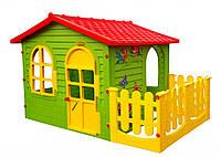 Детский игровой  домик Garden House, большой, с террасой