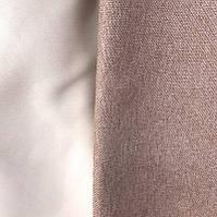 Шторы двухсторонние из льна №М56 капучино