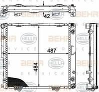 Радиатор Mercedes W124 2.0-2.2 1992-1995 АКПП плоские соты 490*490 1245006303