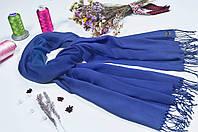 Красивий синій палантин з пашміни