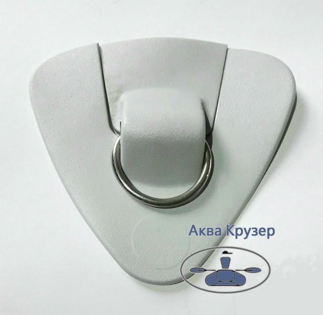 Аксессуары и комплектующие для лодок ПВХ, RIB - рым - буксир КОЛИБРИ - Рым-буксир треугольный КОЛИБРИ с треугольным кольцом из металла -  Подошва для буксировки с кольцом из нержавейки - кольцо буксировочное - комплектующие и аксессуары для надувных лодок ПВХ в Украине