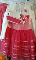 Платье детское для девочек нарядное Венгерский трикотаж Lili Kids 92-116 см