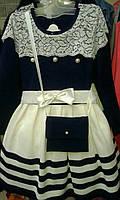 Платье на девочек Мишель 92-116 см Венгерский трикотаж Lili Kids, фото 1