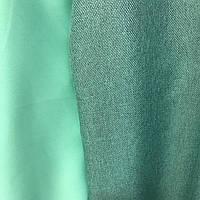 Шторы двухсторонние из льна №М56 зелень
