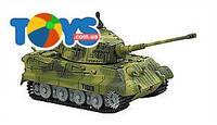 Танк микро р/у 1:72 King Tiger со звуком зеленый, GWT2203-1