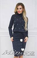 Теплое платье от ТМ Minova  норма недорого Украина Россия интернет-магазин ( р. 42-48 )