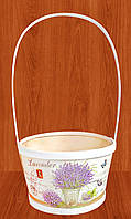 Корзина  для цветов  Прованс 28х12 см