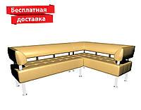 Угловой диван из кожзама бежевый, фото 1