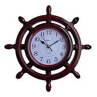 """Часы настенные Sirius """"Штурвал"""" бордовый l006"""