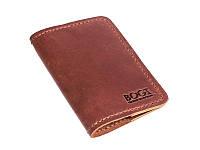 Обложка на паспорт кожаная коричневая