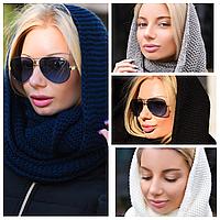 Женская шапка - шарф - снуд 8092 МВ