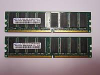 Оперативная память для ПК DDR 1GB Samsung 2X512MB DDR PC3200U CL3 M368L6423HUN-CCC