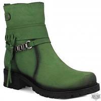 Женские зеленые ботинки из нубука Forester AA1433207-22
