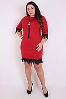Платье большого размера  Шери кулон, (2 ц) платье большого размера, белое платье большого размера, дропшиппинг, фото 1