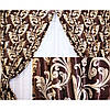 Готовые шторы Блекаут Katrin горький шоколад