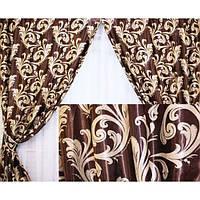 Готовые шторы Блекаут Katrin горький шоколад, фото 1