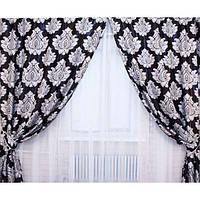 Готовые шторы Блекаут Katrin черный