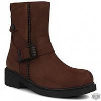 Женские ботинки из нубука Forester AA1705204-45