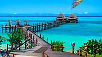 """Картины раскраски по номерам """"для творчества Пляж Танзании"""" набор для творчества"""