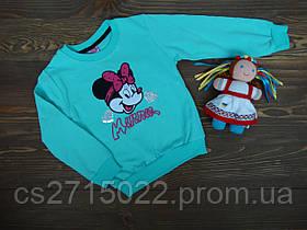 """Теплый, мягкий детский реглан """"Minnie Mouse"""" р.5-8 лет"""