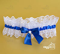 """Підв'язка для нареченої """"Noda"""" синого кольору"""