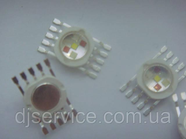LED диод 15w RGBWA (Распиновка 2) для PAR 64, голов