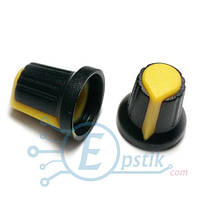 Ручка потенциометра 15x17- Желтый