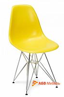 Стул Тауэр Хром пластик желтый (СДМ мебель-ТМ)