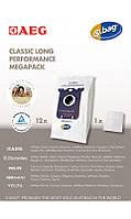 MegaPack, 12 синтетических вакуумных мешков, подходящих для AEG UltraSilencer, ClassicSilence, SilentPerformer