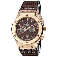 Мужские наручные часы Hublot 882888 Classic Fusion Brown-Gold-Brown, Хублот классик