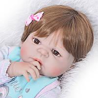 Кукла реборн девочка полностью силиконовая.Кукла,пупс reborn