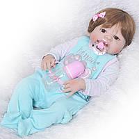 Кукла реборн полностью силиконовая девочка.Кукла,пупс reborn, фото 1