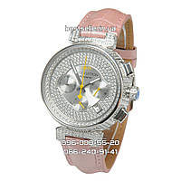 Часы Louis Vuitton Tambour LV277 Diamond Silver/White/Pink. Реплика: Elite