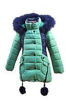 Зимняя куртка 66-18 на 100% холлофайбере размеры 122-134, фото 1
