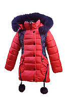 Зимняя куртка 66-18 на 100% холлофайбере размеры 134, фото 1