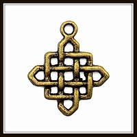 """Метал. подвеска """"Кельтский узел"""" бронза (2,5х2,1 см) 13 шт в уп."""