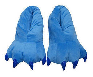 Тапочки теплые для кигуруми синие