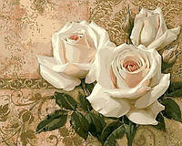 """Картины раскраски по номерам """"для творчества Кремовые розы"""" набор для творчества"""