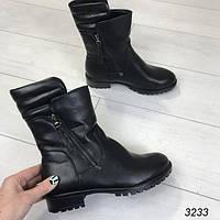 Зимние женские ботинки черные АВ-3233