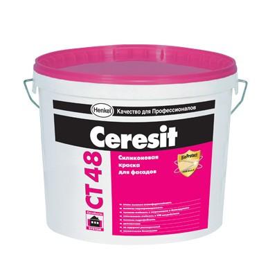 CT 48 (СТ 48) Ceresit 10 л фасадная силиконовая краска