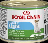 Royal Canin ADULT Light консерва 195 гр. Для собак маленьких размеров, имеющих склонность к избыточному весу